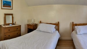 The Lovespoon House twin bedroom.